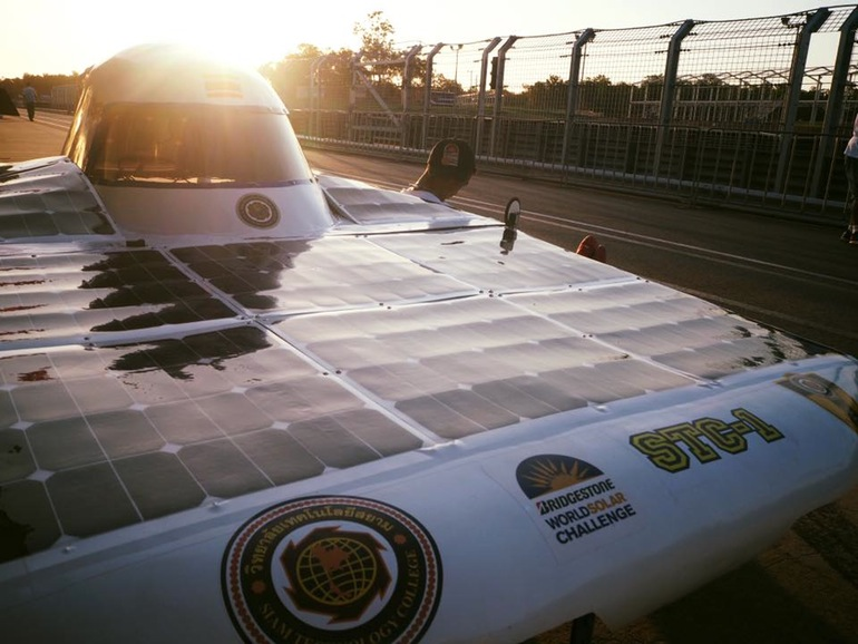 Thailand's Siam Technology College is entering the World Solar Challenge for the first time with its STC-1 solar car