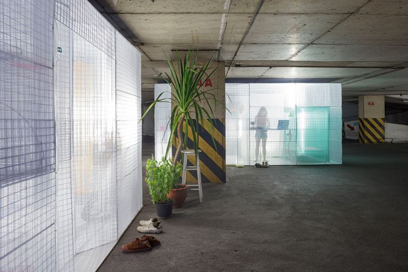 Light House popup apartment can be setup in abandoned buildings or parking garages -4