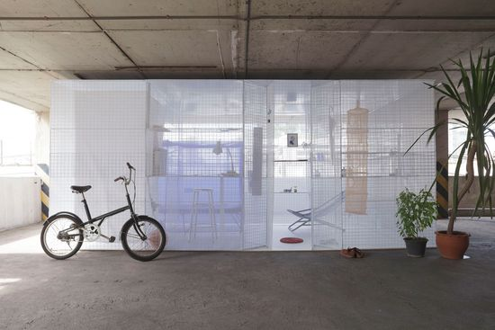 Light House popup apartment can be setup in abandoned buildings or parking garages -8