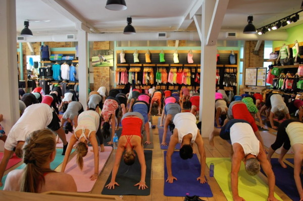 One of Lululemon's in-store yoga classes
