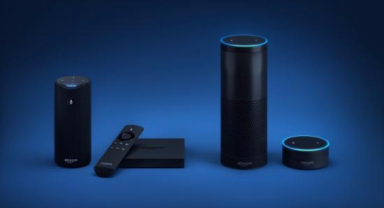 Amazon Echo voice assistant device lineup