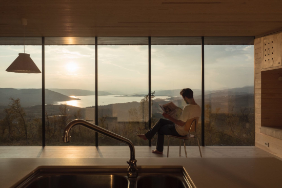 Cabin Ustaoset was designed to make the most of that amazing view( Credit Knut Bry)