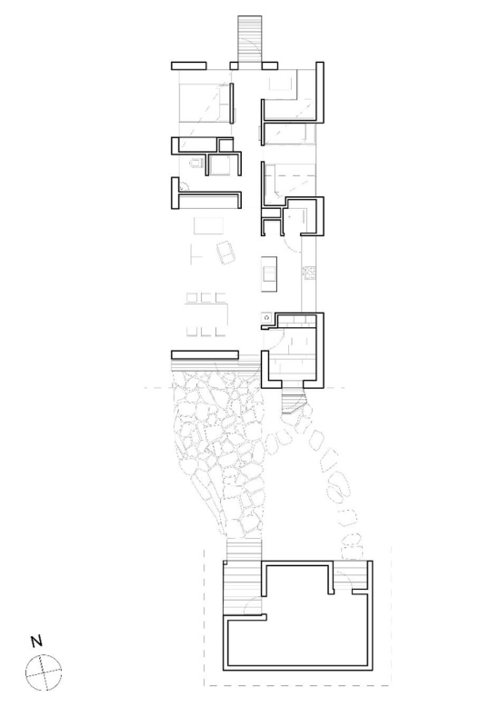 Cabin Ustaoset Architectural drawing Credit Knut Bry)
