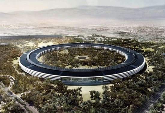 Rendering of the new Apple Headquarters 2