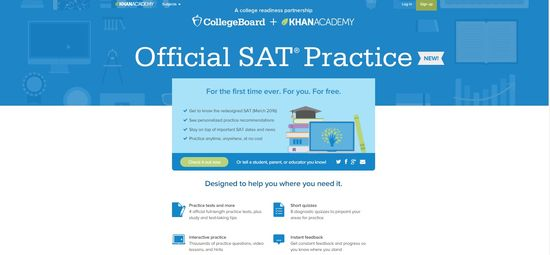 Khan Academy Official SAT Practice page