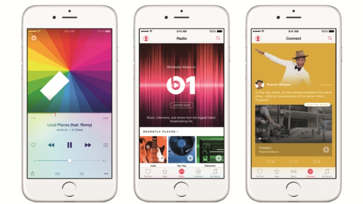 Apple Music provides regular streaming, radio stations with DJ's and a feature called Connect which gives you direct insights of what artists are doing right now