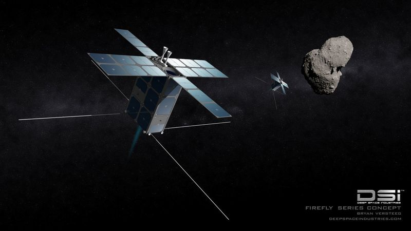 Deep Space Industries - Their-55-pound-probes-will-do-flybys-of-smaller-asteroids-taking-up-to-100-photographs-as-they-pass-in-order-to-distinguish-loose-rubble-piles-from-solid-bodies-made-of-valuable-minerals