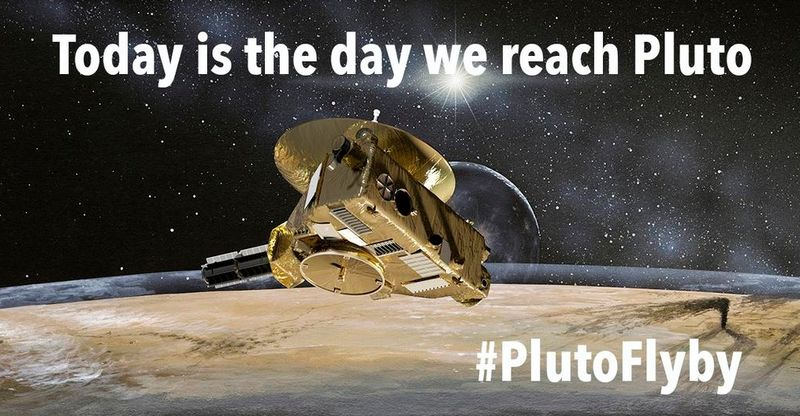 Today the New Horizon spacecraft flysby the planet Pluto