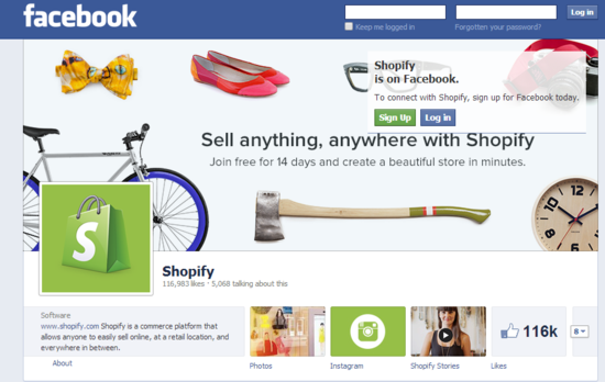 Facebook and Shopify Partnership to offer users online ecommerce shops directly through Facebook