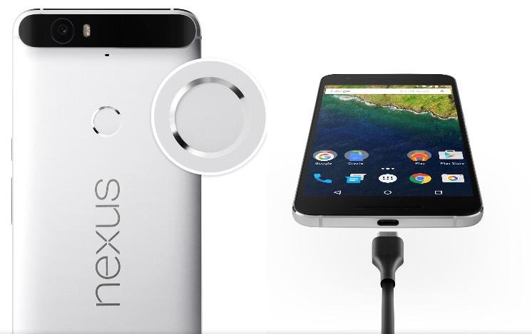 Huawei-Nexus-6P-reverse sideshowing the fingerprint sensor and new USB Type-C port for quick charging