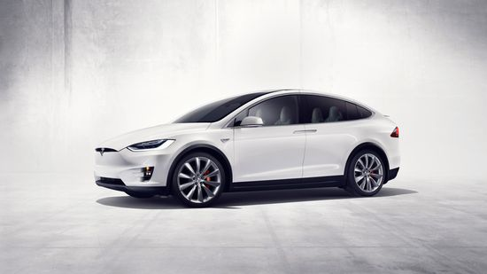 Tesla Model X all-electric SUV B