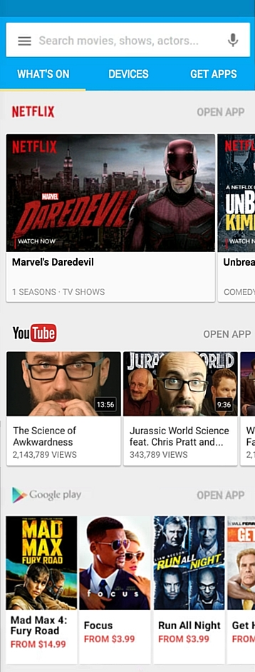 The new Google Chromecast app for Android and iOS provides access to both Netflix and YouTube videos 2
