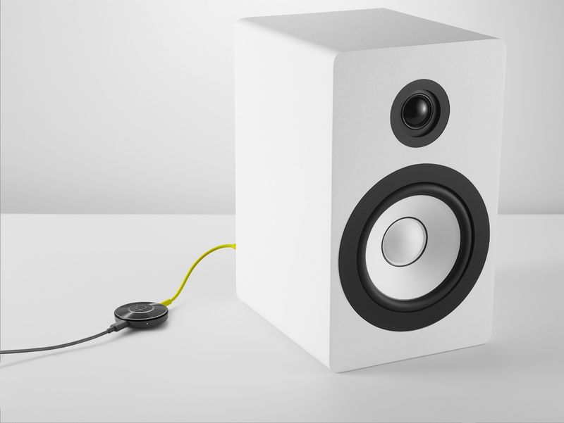 The new Google Chromecast allows users to listen to music from their portable devices through their audio speakers 1