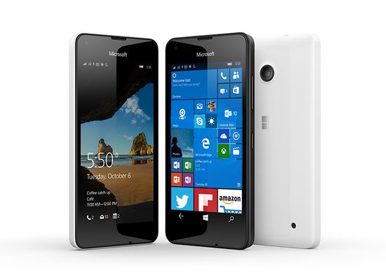 Lumia-550 runs Windows 10 mobile
