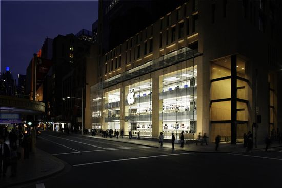 Apple opened its first store in the southern hemisphere in 2008, a three-story shop located in the middle of Sydney's shopping district