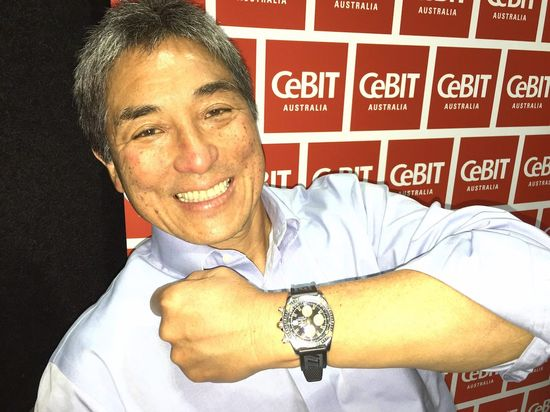 Guy Kawasaki, during a CeBit Technology conference in Australia says he does not like the Apple Watch, but prefers his Breitling watch, a real 'mans watch'