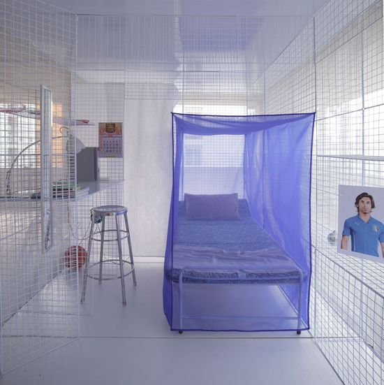 Light House popup apartment can be setup in abandoned buildings or parking garages -2