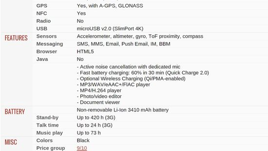BlackBerry Priv Specifications - GSMARENA 3