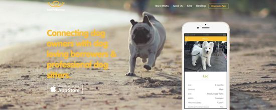 Bark'N'Borrow, a mobile app for connecting dog owners with dog loving borrowers and profesional dog sitters