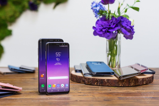 Samsung Galaxy S8 Plus (6.2-inch screen) and S8 (5.7-inch screen)