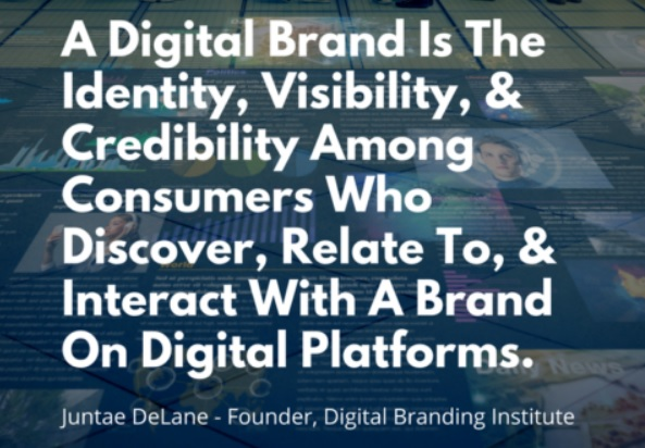 Digital Branding is the sum of brand identity  visibility and credibility among consumers