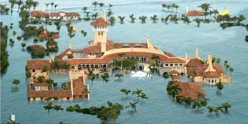 Donald Trump's Mar O Lago Golf Resort in Florida will experience extensive flooding